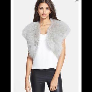 Betsy Johnson Genuine Marabou Vest
